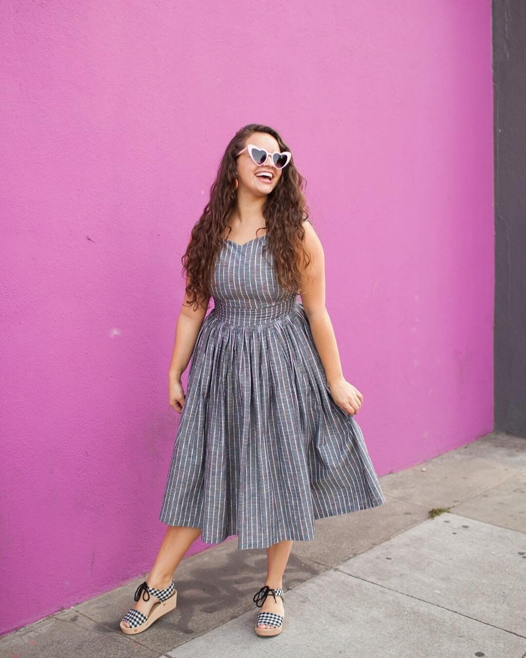 Fabulous Fit And Flare Dress With Pockets In Grey Plaid Fit And Flare Dress Short Girl Fashion Flare Dress