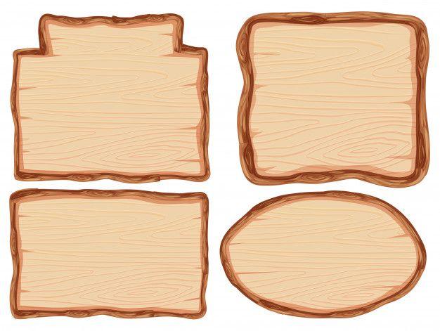 Set of wooden banner Premium Vector  Premium Vector