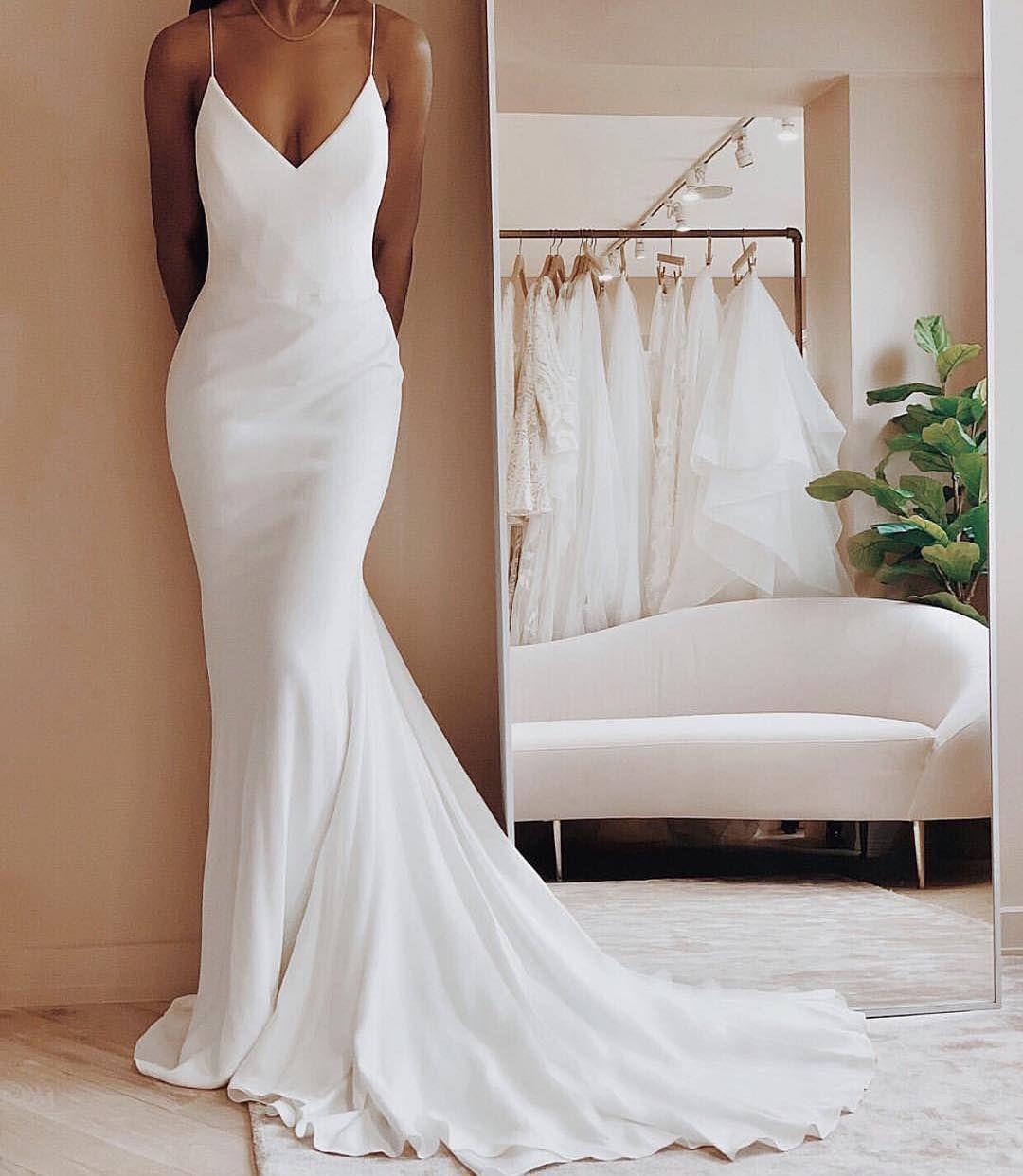 32 Beach Wedding Dresses Perfect For A Destination Wedding, simple wedding dress…