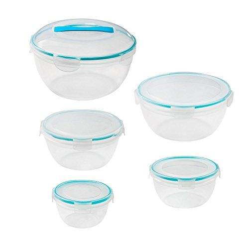 Snapware Airtight Plastic Storage Bowl 10 Piece Set Includes 1 Each169cup Bowl With Lid 107cup Bowl With Lid 6 Airtight Food Storage Food Storage Storage Bowls
