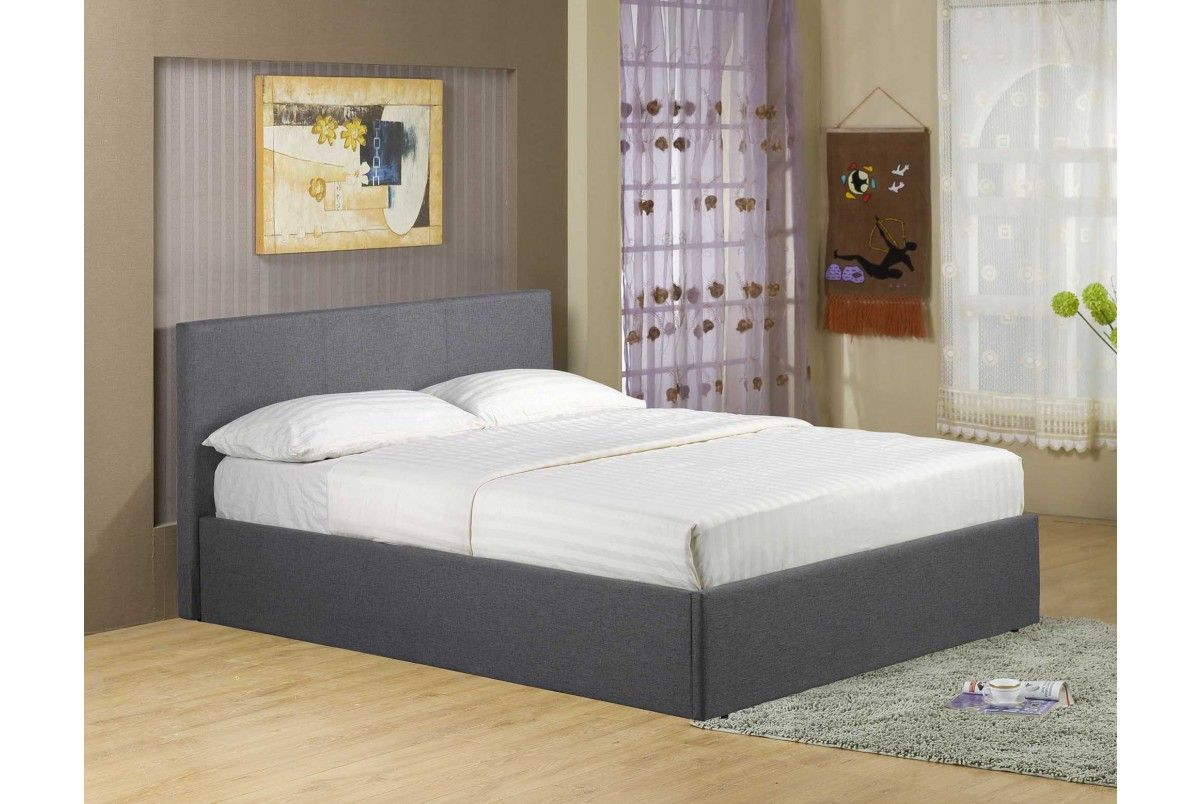 Richmond Ottoman Storage Grey Fabric Bed - Double or King Size - Storage  Beds - Beds - Richmond Grey Fabric Lift Up Ottoman Storage Bed Fabric