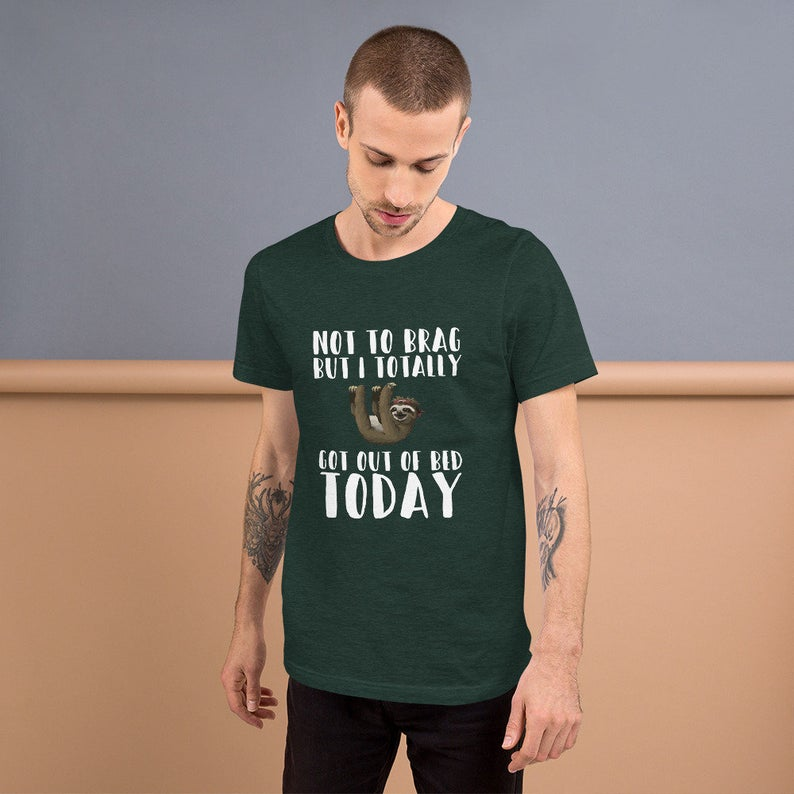 Sloth Get Out of Bed Tshirt Sloth Cool Tee Shirt