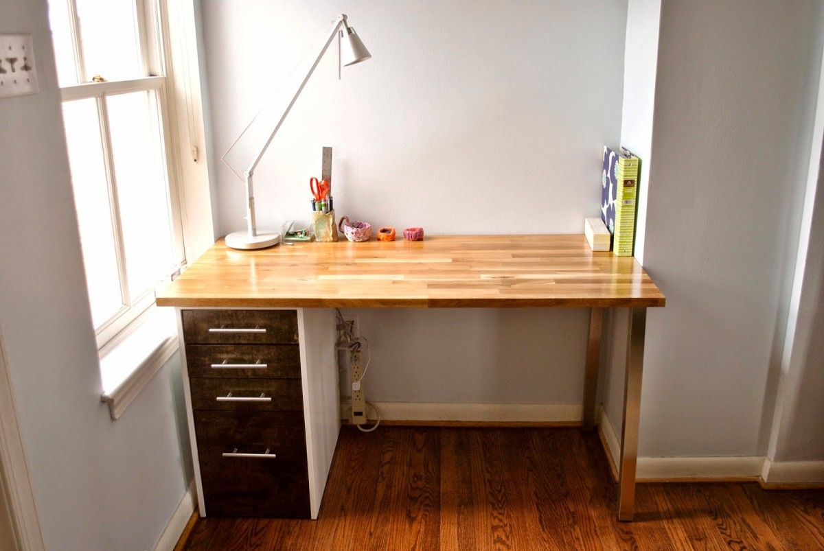 Custom Beech And Maple Desk Diy Furniture Ikea Desk
