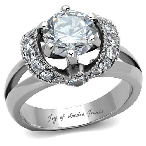 Fine Mariage bijoux argent 925 Pear Cut Zircone cubique Anneaux Pour Femmes SZ 6-10