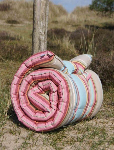 Roll Up Padded Beach Mattress Dorset Stripe From Www Theseasidecompany Co Uk