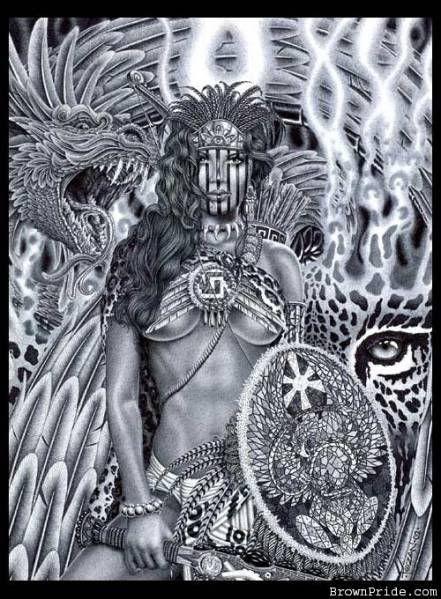 Aztec Warrior Princess Aztec Warrior Aztec Art Aztec Tattoo