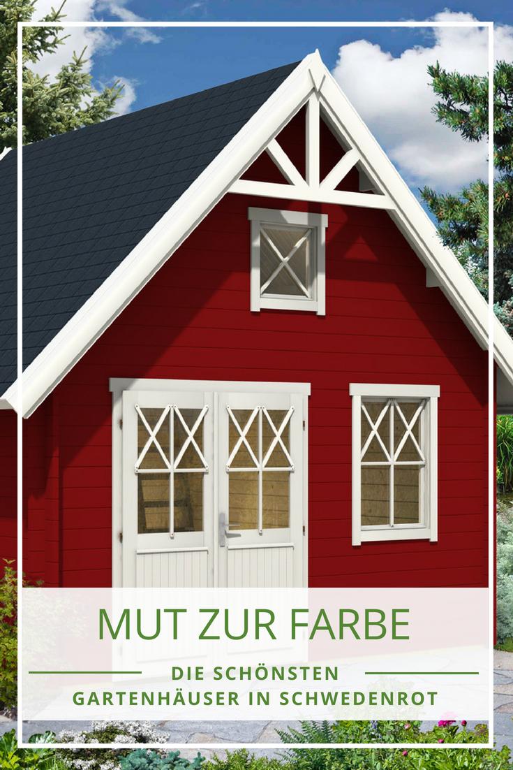schwedenrot & stilvoll: die schönsten schwedenhaus-gartenhäuser