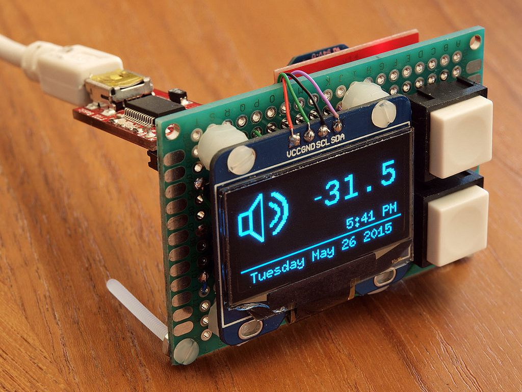Diy Oled Display Mounted With Buttons And Xbee Arduino Electronics Projects Diy Diy Electronics
