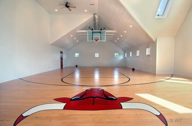 indoor home basketball courts - Google Search | Pro Athletes ...