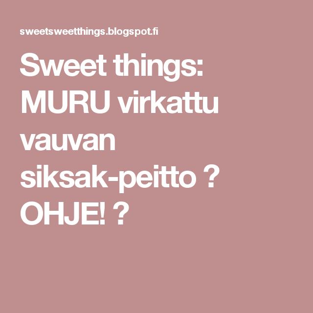 Sweet things: MURU virkattu vauvan siksak-peitto ♥ OHJE! ♥