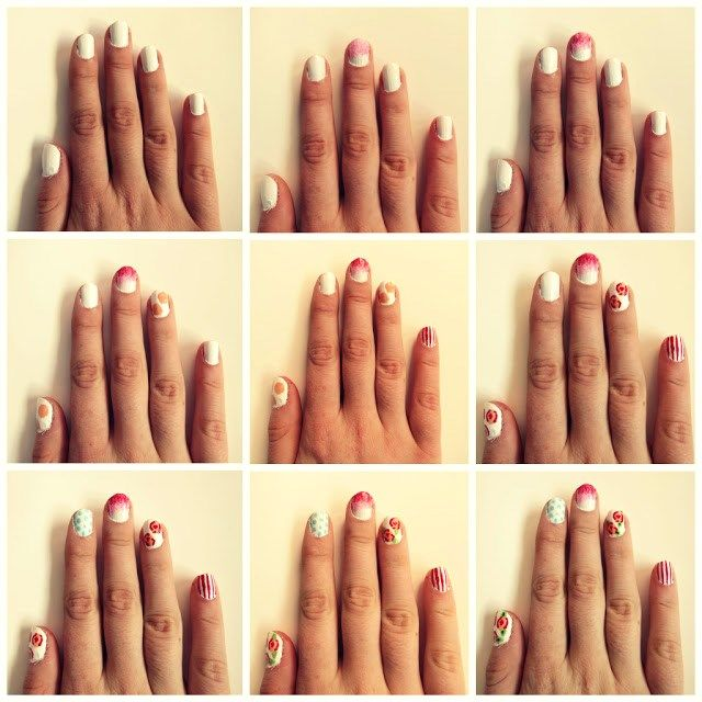 Nail Art Tutorial Steps Learn Designing | Nail Designs | Pinterest ...