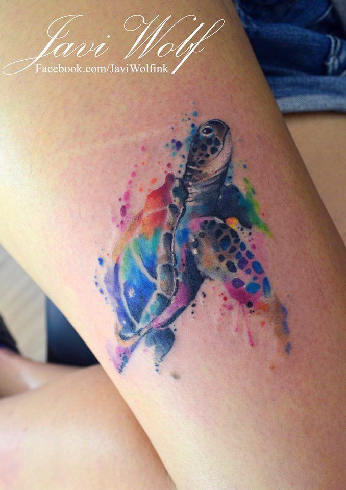 ee14761cc Tortuga watercolor - Diseño y estilo propio :DAGENDA CERRADA por el  momento. | Tatoos | Turtle tattoo designs, Hawaiian tattoo, Tattoos