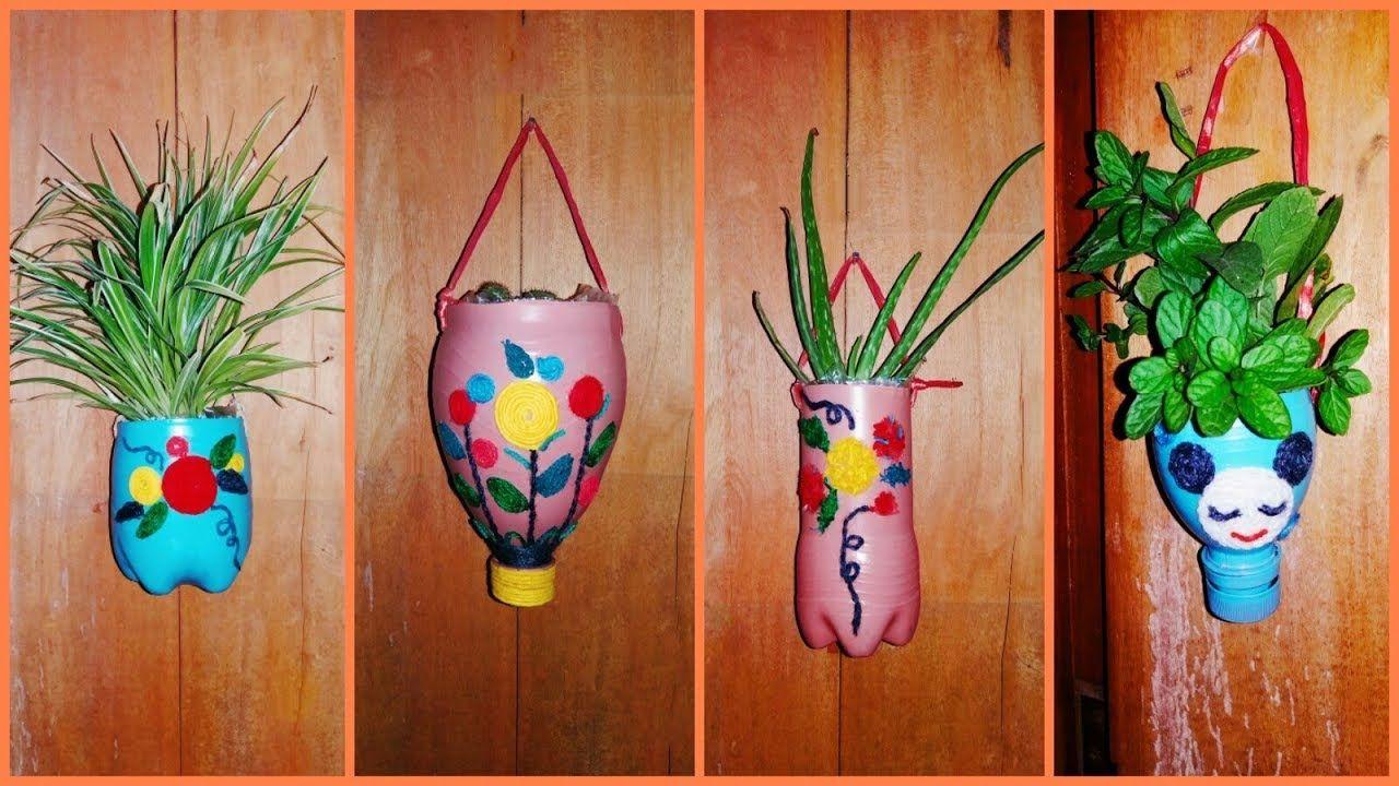 3ed22f51553e0a3a2708e8d6c284f23e - Diy Plastic Bottles Hanging Flower Gardens