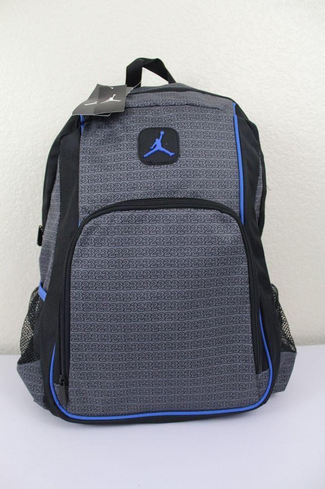 d2213dc940 NIKE Jordan Jump Man Backpack Black/Grey/Blue Laptop storage Side bottle  pockets #Nikejordan #Backpack