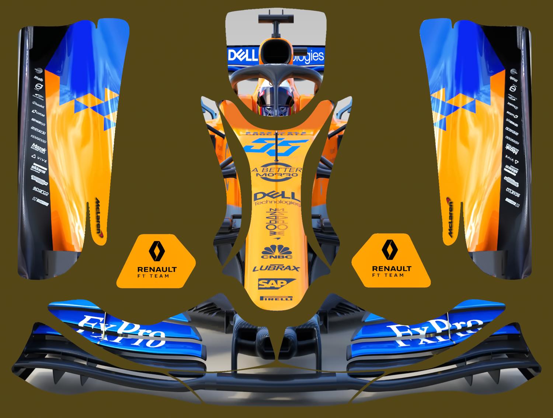 2019 Mclaren Renault F1 Karting Sticker Kit For Kg Evo Pods Nosecone Nassau Panel In 2020 F1 Karting Karting Sticker Kits