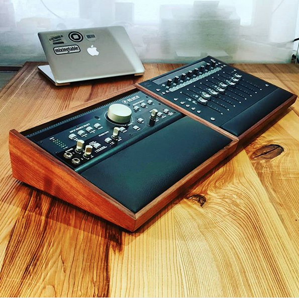 Mackie Big Knob Walnut Lux and Avid Artist Mix Lux custom build  Lux