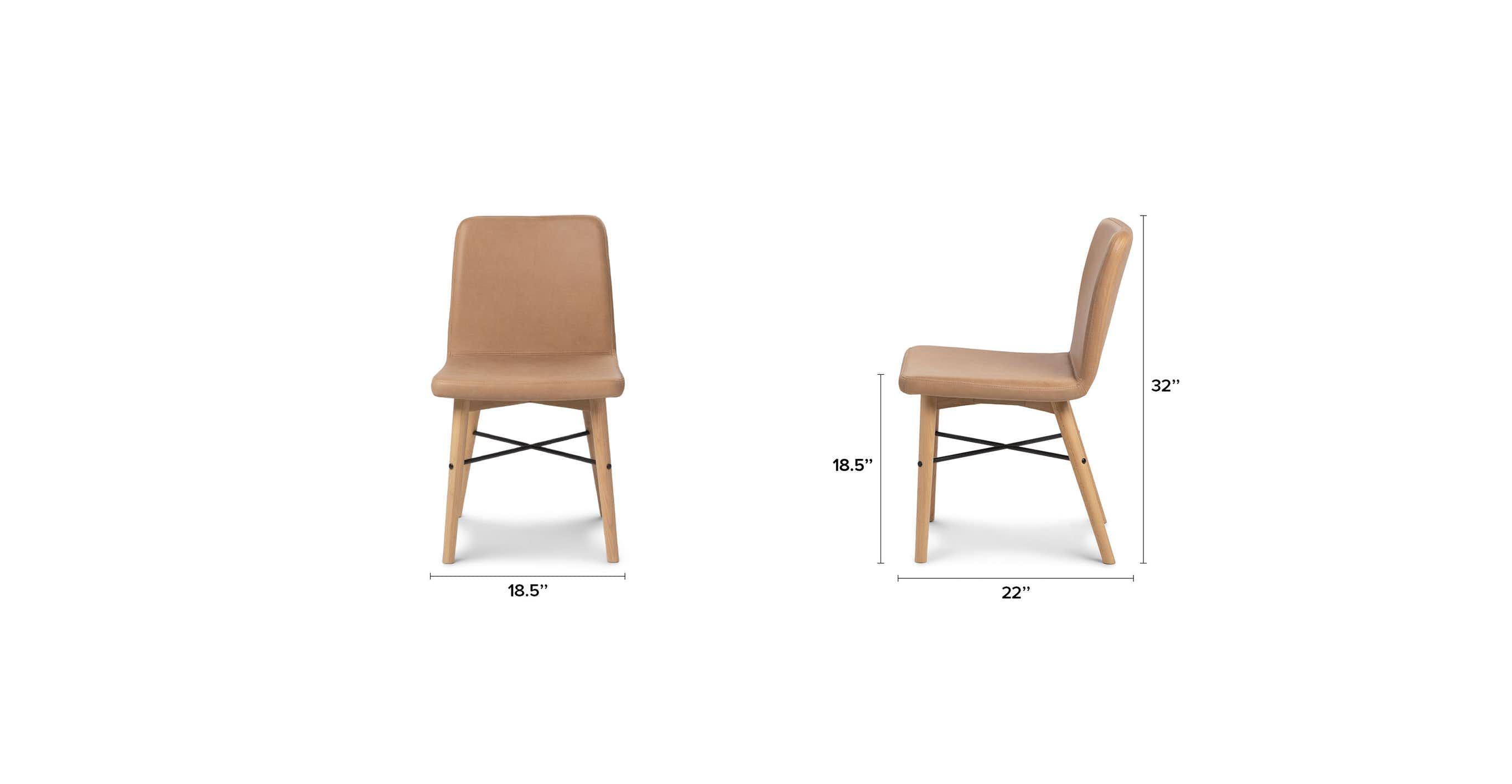 Kissa Canyon Tan Light Oak Dining Chair Oak Dining Chairs Dining Chairs Light Oak