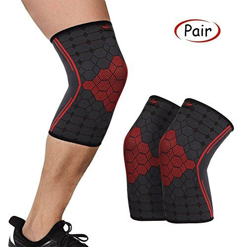 Pin on Knee Compression Sleeve Support