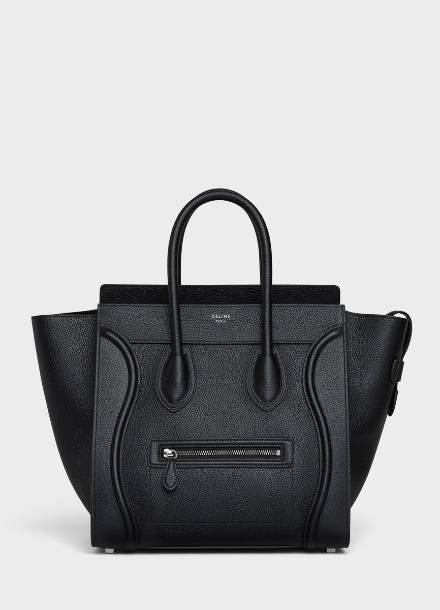 c8bab7e074d Mini Luggage handbag in drummed calfskin