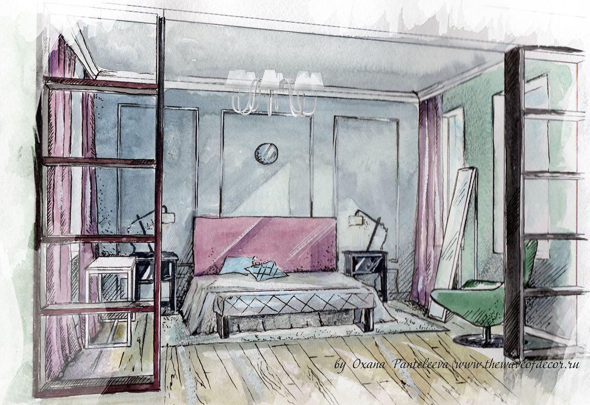 Рисунки комнаты девочки подростка