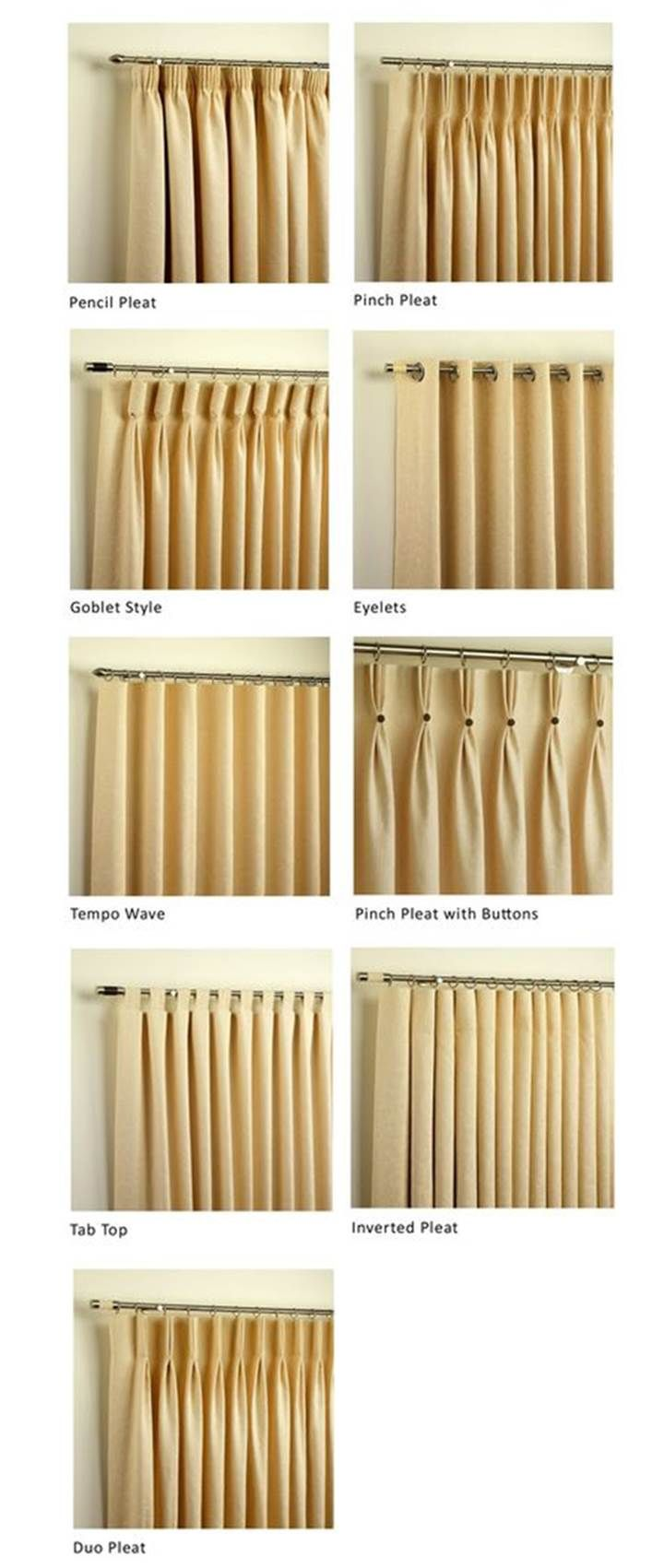 Curtain Heading Styles Curtain Headings Curtains With Blinds