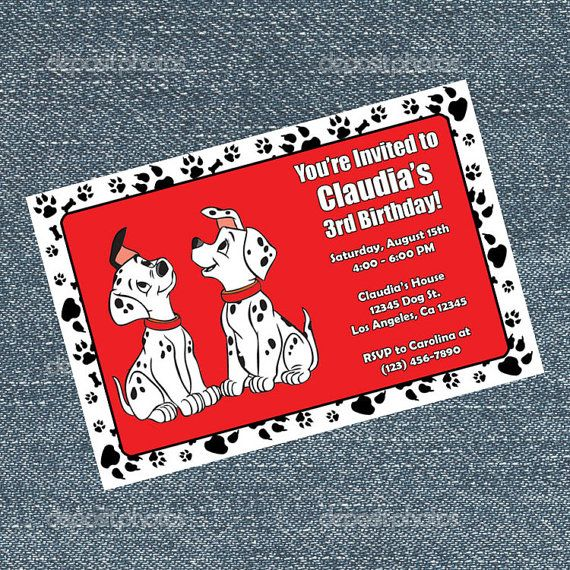 101 Dalmatian Invitations Birthday Party By Rrcreations123 Kara S