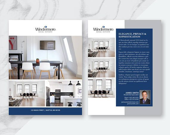 Real Estate Flyer and Postcard Templates Apple Pages - powerpoint brochure template