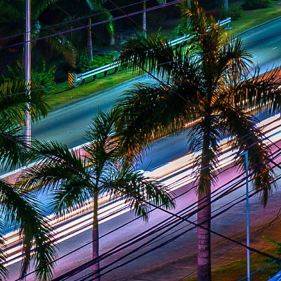 Ive seen so many things change from this vantage point. . . . . . . #bevin #montegobay #jamaica #airport #art #color #liferemixed  #highway #composition #streetphotography #capture #photodaily #photogram #instagood #photooftheday #submission #collage #nightscape #nightscaper #lightrail
