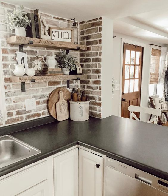 These Brick Backsplash Ideas Make the Case for a Rustic Kitchen Makeover | Hunker