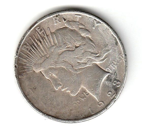 1923 D 1 Liberty Peace Dollar Coins Paper Money Coins Us