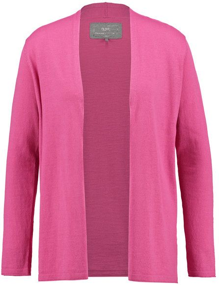 Offene Jacke aus feinem Strick,Pink