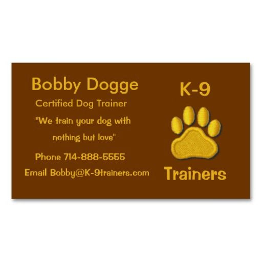 Dog Trainers Business Card Zazzle Com Trainers Business Cards