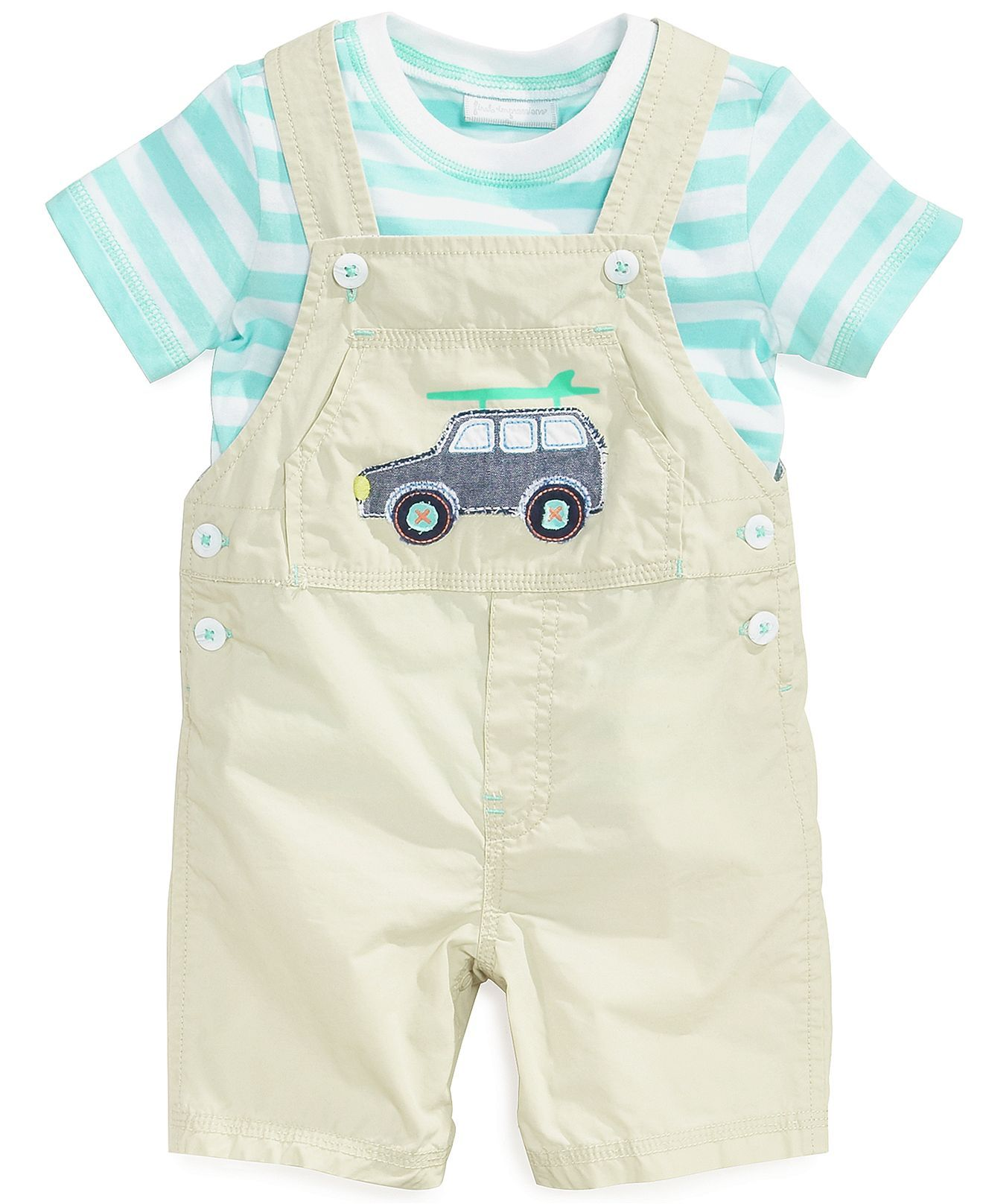 First Impressions Baby Boys Piece Tee Shortall Set