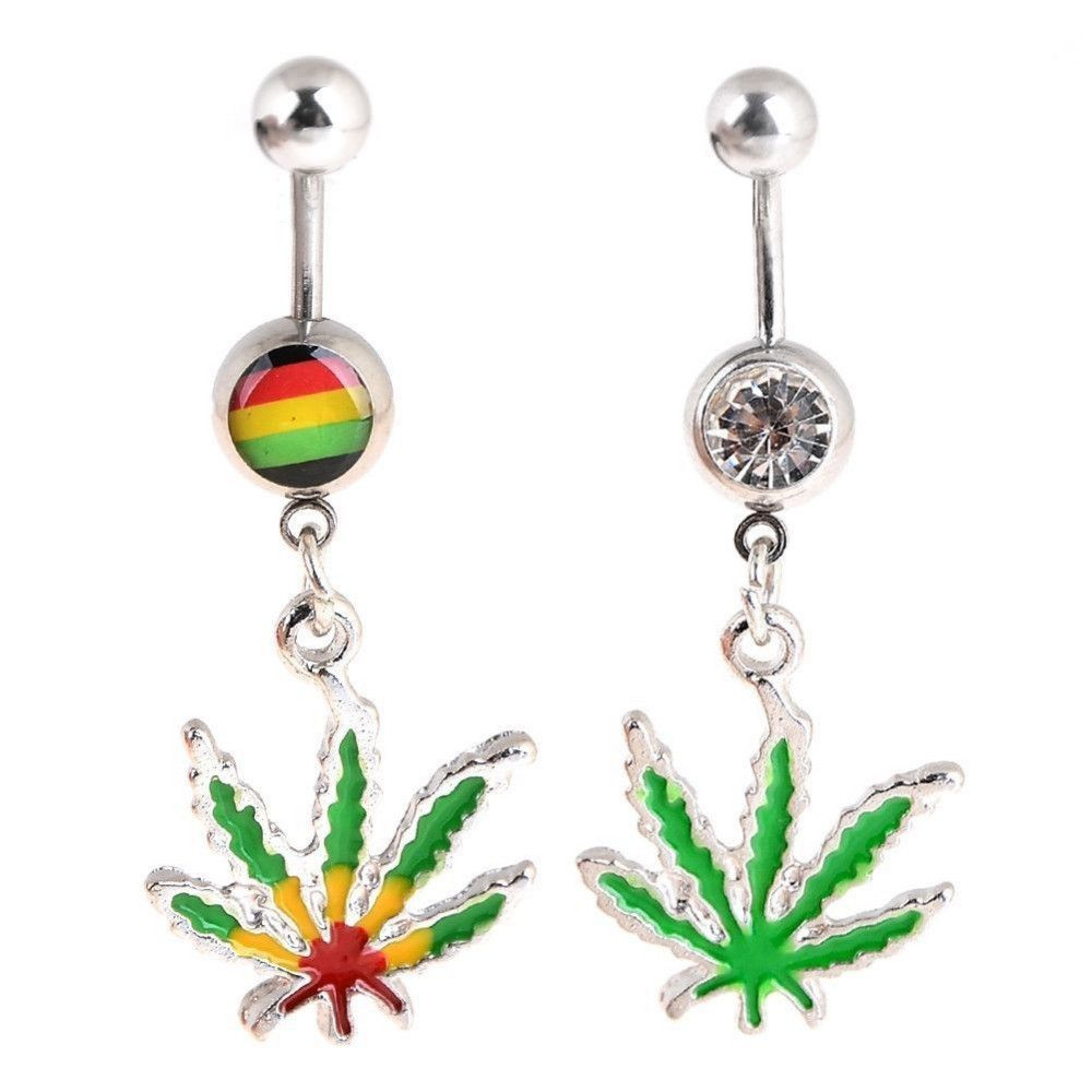 NEW! BUY 1 GET 1 FREE Dangling Maple Leaf Weed Dangling Belly Ring Accessories Body Piercing Jewelry @ LOVE {PM}♡ $8.00 BUY NOW  ➤ https://goo.gl/BXWby8 #piercing #fashion #dmv #accessories #lovepierceme #Philly #Georgetown #sale #UniversityofVirginia #virginiahairstylist