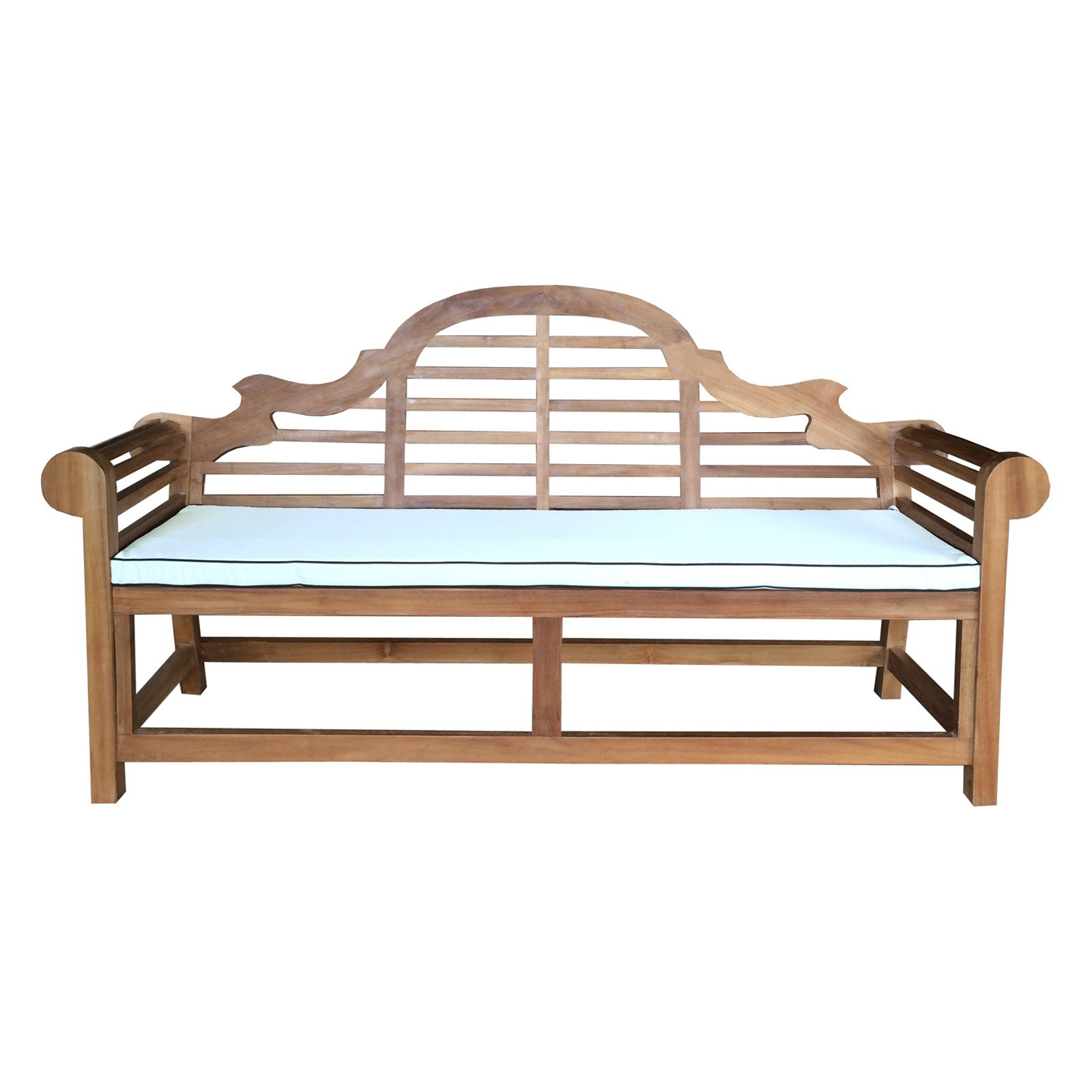 Wondrous Chic Teak Lutyens Outdoor Bench Cushion Products In 2019 Ibusinesslaw Wood Chair Design Ideas Ibusinesslaworg