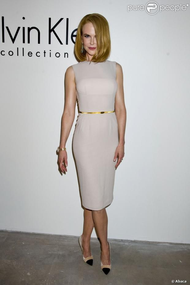 Nicole Kidman assiste au défilé Calvin Klein printemps-été 2014 aux studios Spring. New York, le 12 septembre 2013.