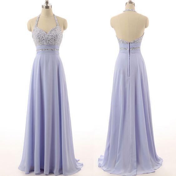 lavender prom dress,halter Prom Dress,long prom dress | Gowns ...