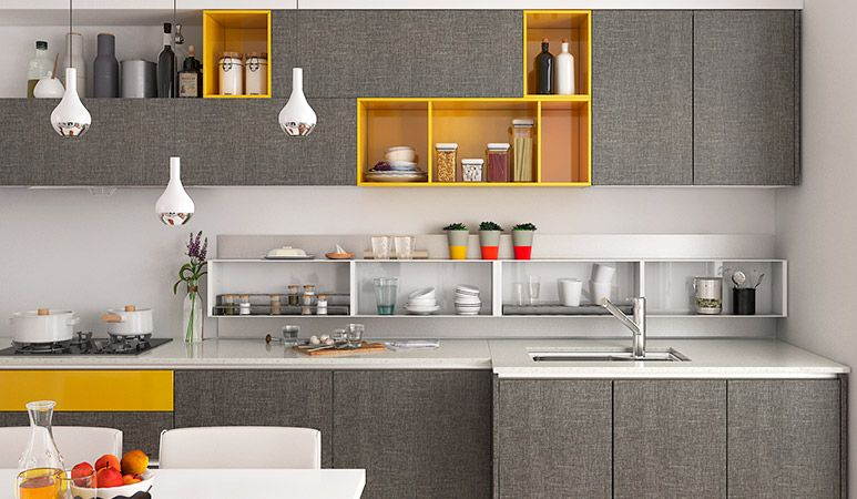 Op16M0610Squaremetersstraightlinemodernstylekitchen Endearing Straight Line Kitchen Designs Design Ideas