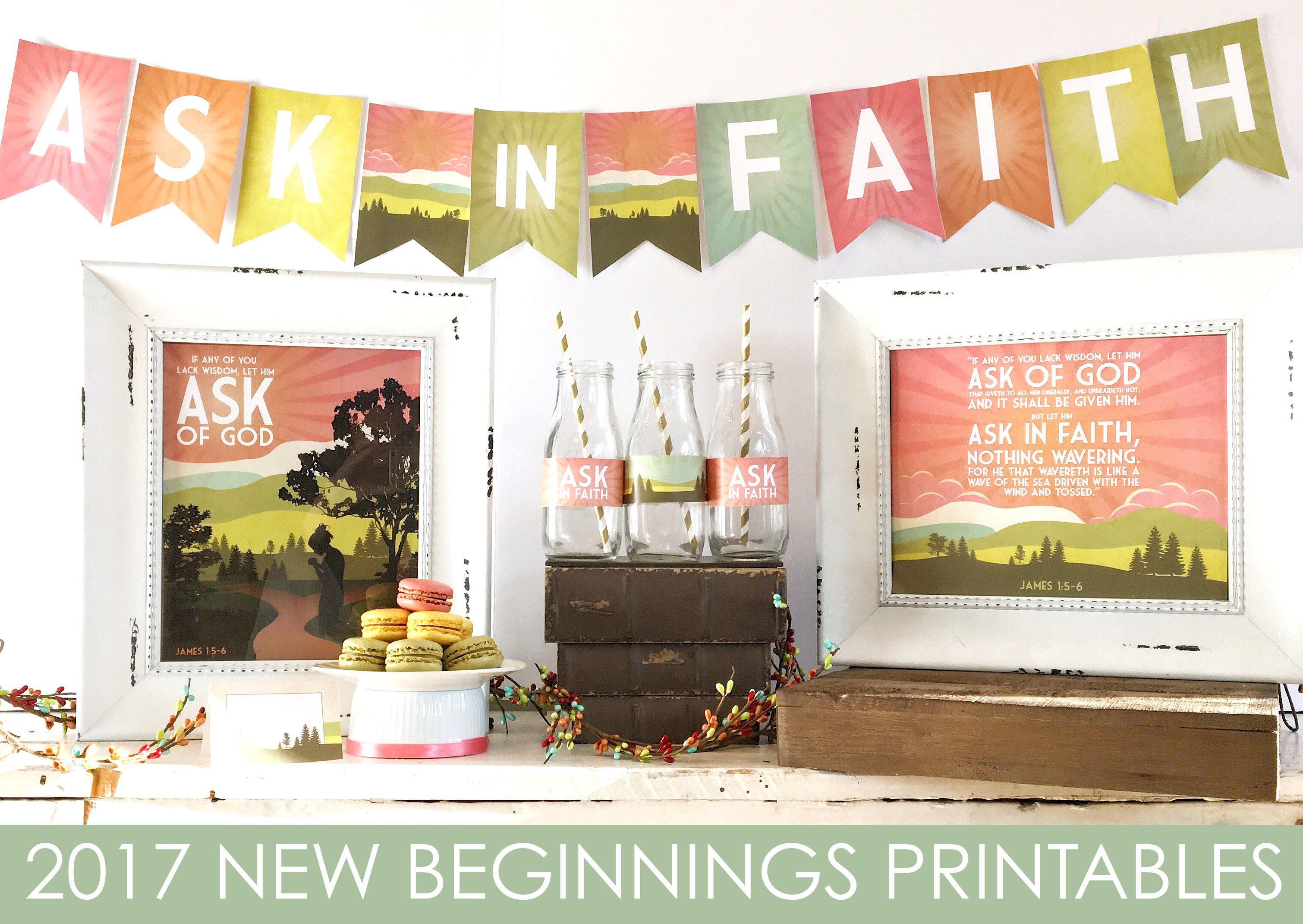 Lds Yw New Beginnings Printables