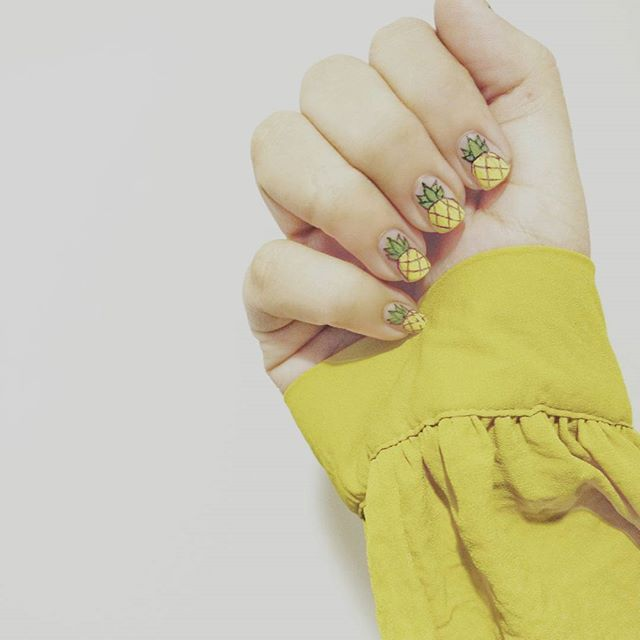 Pin for Later: 16 Pineapple Nail Art Ideas That Are Seriously Sweet