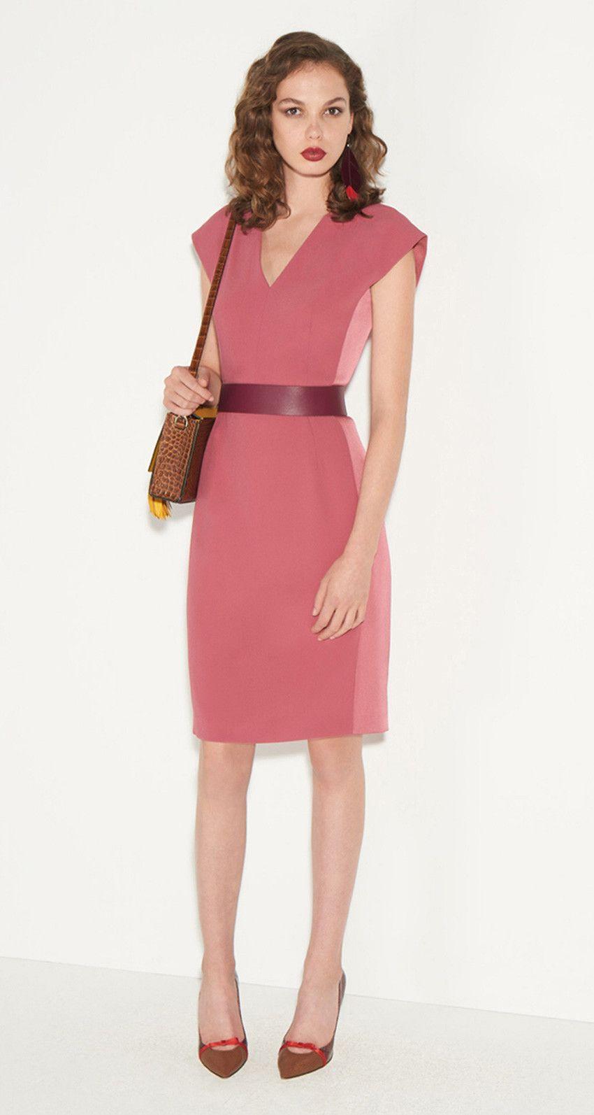 Satin-backed crepe dress - Paule KA   Nice clothes Sept 17   Pinterest