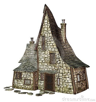 Witchs Cottage Stock Illustration