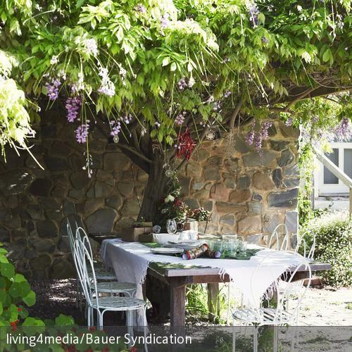 Inspirational Sitzplatz Holztisch Garten Ideen Terrassen Haus Metall Der Ewige G rtner Gartenideen House
