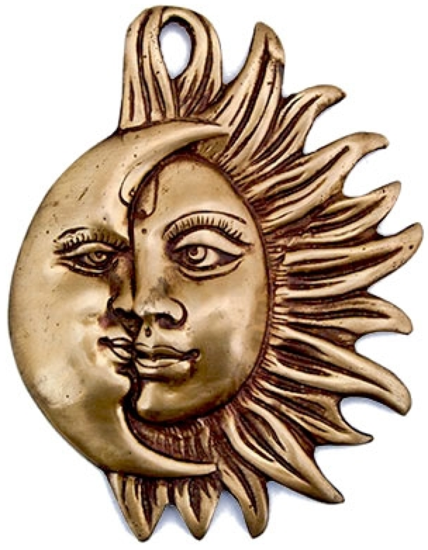 Entwined Sun Moon Wall Plaque