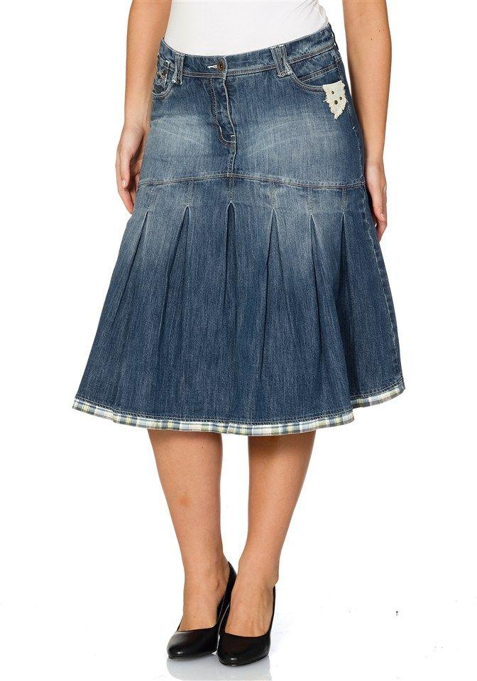 Those pleats make this Denim Skirt special! --- -Joe Browns Jeansrock in  Petticoat-Form ec8c093a49
