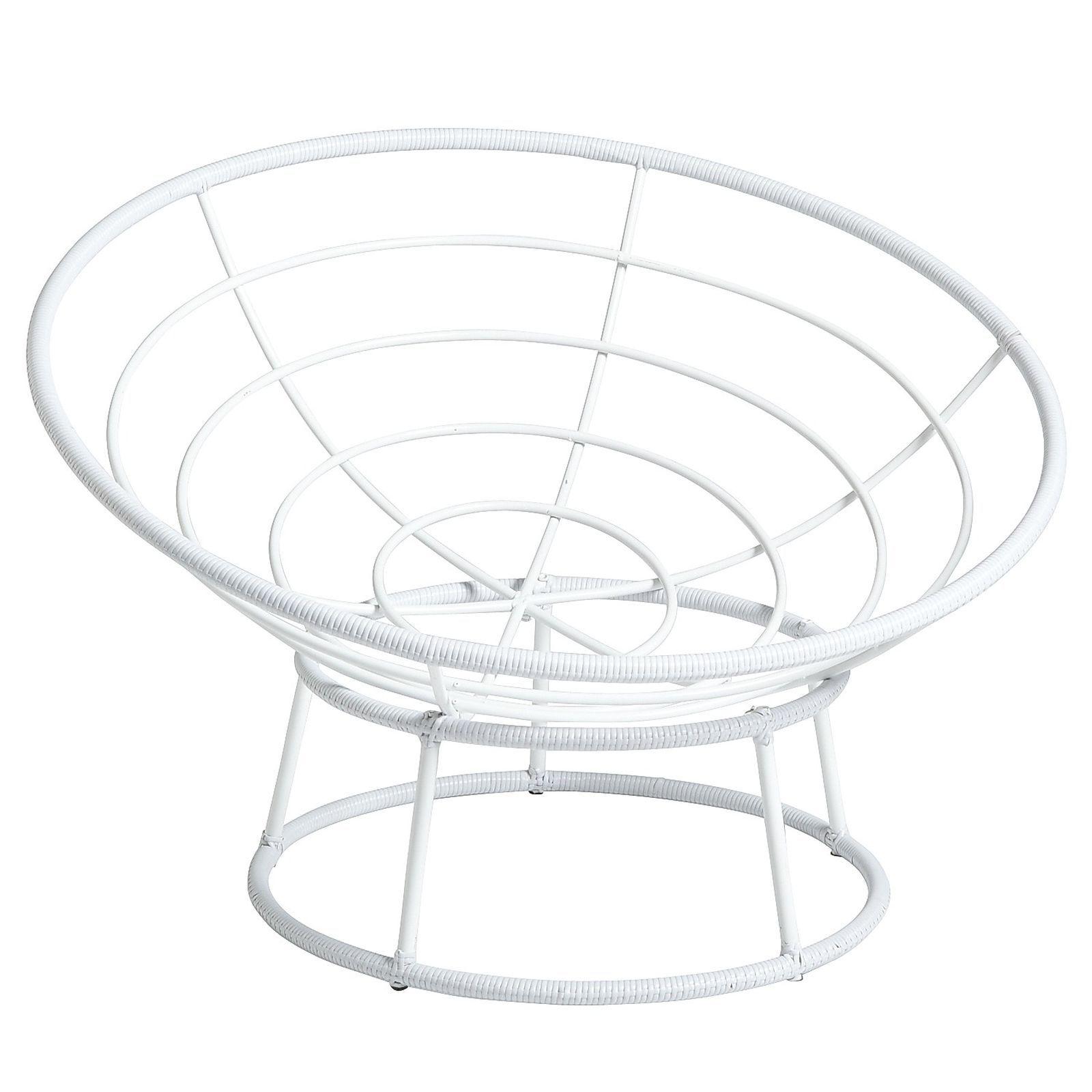 Outdoor White Papasan Chair Rattan And High Gloss
