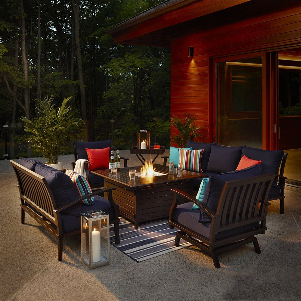 Shop allen   roth Gatewood Conversation Set at Lowe s Canada  Find our  selection of outdoor conversation sets at the lowest price guaranteed with  price  Shop allen   roth Gatewood 5 Piece Conversation Set at Lowe s  . Lowes Outdoor Living Sets. Home Design Ideas