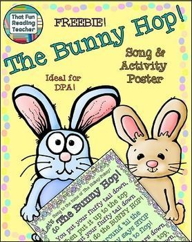 The bunny hop easter song dance coloring sheet freebie teacher pay teachers negle Image collections