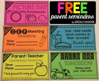 Free Teacher Handouts for Back to School (Preview) #meettheteachernight