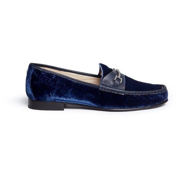 Sam Edelman 'Talia' metal link velvet loafers (3 370 UAH) ❤ liked